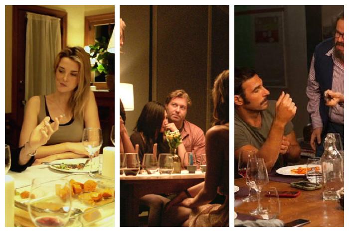 … en una cena
